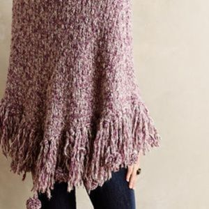 Anthropologie Bobble Poncho by Sleeping On Snow